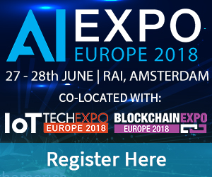 #AI Expo Europe, 27-28th June 2018, RAI, Amsterdam
