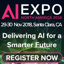 AI Expo North America 2018, 28-29th November 2018, Santa Clara, CA