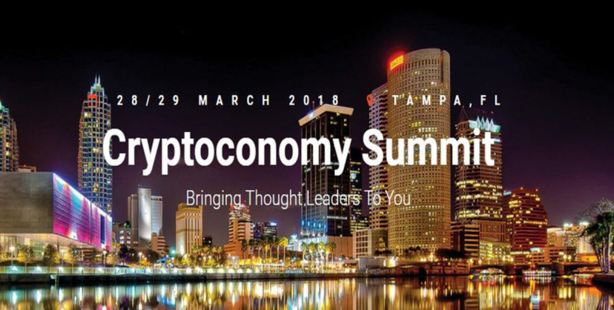 The Cryptoconomy Summit, March 28-29 2018, Tampa Convention Center, Tampa, Florida