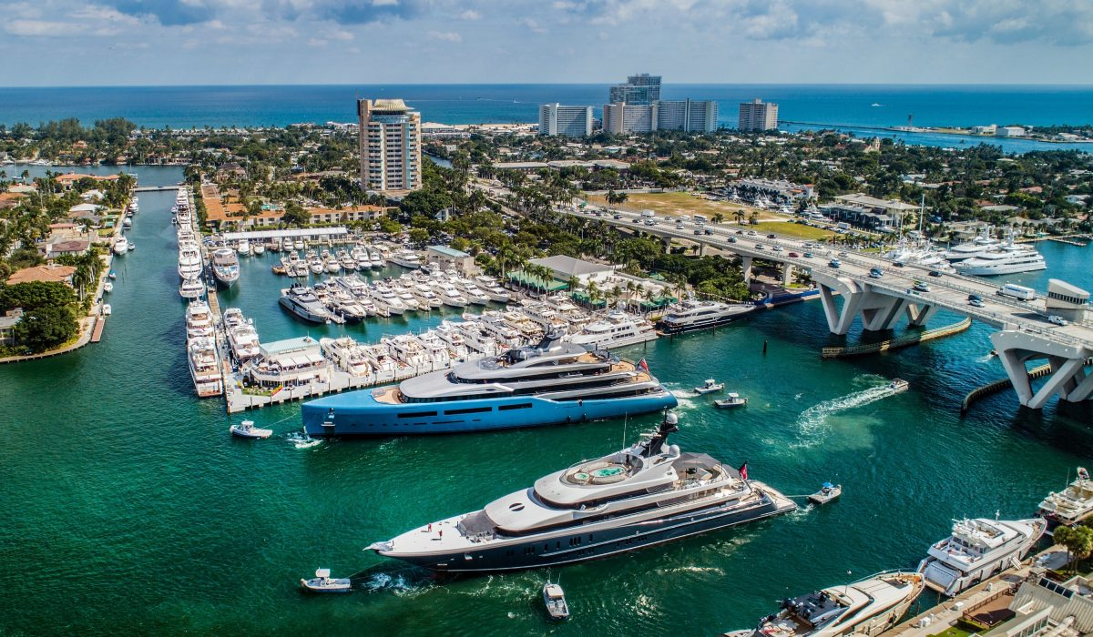 The Fort Lauderdale International Boat Show, the largest in-water boat show in the world, is set to take place Oct. 30 through Nov. 3. Photo Credit: Forest Johnson