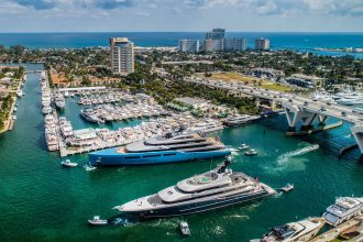 The Fort Lauderdale International Boat Show (FLIBS), the largest in-water boat show in the world, October 30 – November 3 2019